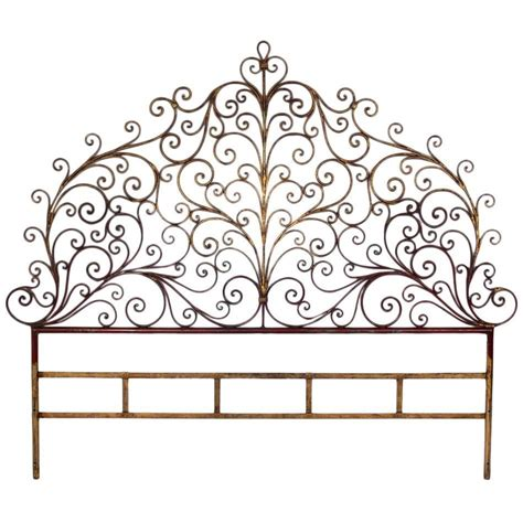 Metal Headboards For Sale by Italian Gilt Metal King Size Headboard For Sale At 1stdibs
