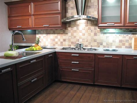 kitchen backsplash ideas with wood cabinets pictures of kitchens modern wood kitchens