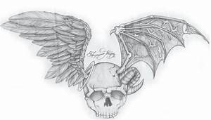 Skull Wings by FLUBunny on DeviantArt