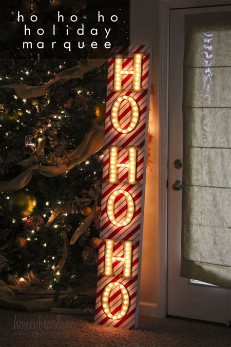 ho ho ho christmas marquee sign honeybear lane