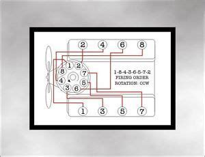Hemi Engine Firing Order Diagram by Firing Order Decal Fits Dodge Big Block Mopar 383 400 440