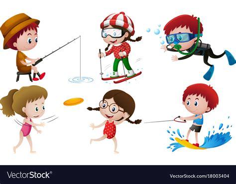 people   outdoor activities vector image