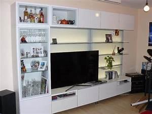Tv Halterung Ikea : besta wohnwand mit tv bank und led hintergrundbeleuchtung ~ Michelbontemps.com Haus und Dekorationen
