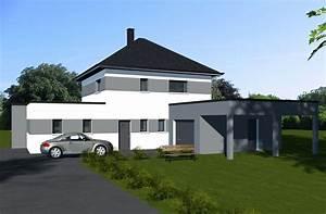 Maison Moderne Toit Plat : maisons toiture terrasses constructeur de maisons sur ~ Nature-et-papiers.com Idées de Décoration