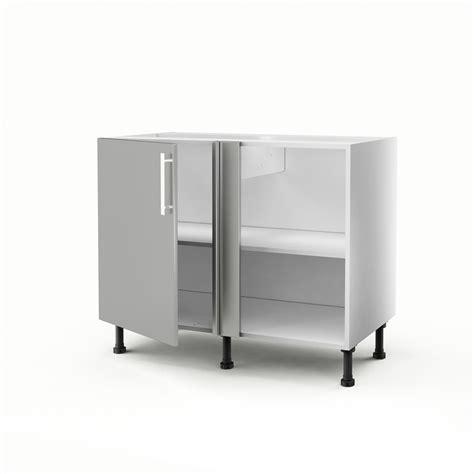 cuisine meuble d angle bas meuble de cuisine bas d 39 angle gris 1 porte délice h 70 x l 100 x p 56 cm leroy merlin