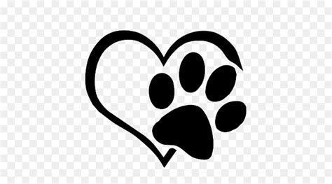 dog cat paw decal sticker love paws  transprent