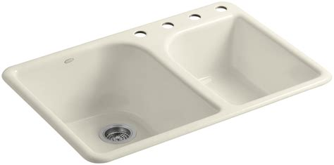 Kohler Executive Chef Sink Stainless Steel by Kohler K 5932 4 47 Almond Executive Chef 33 Quot Basin