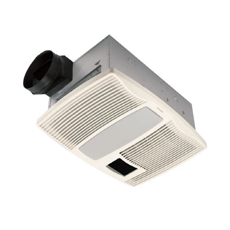 lowes broan bathroom fan shop broan 0 9 sone 110 cfm white bathroom fan at lowes com