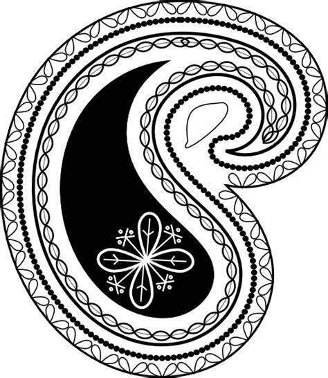 paisley pattern clip art  clkercom vector clip art