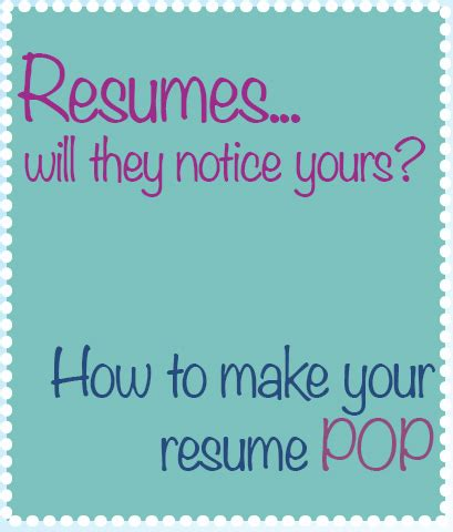 Make Your Resume by Tracey Wilen How To Make Your Resume Pop