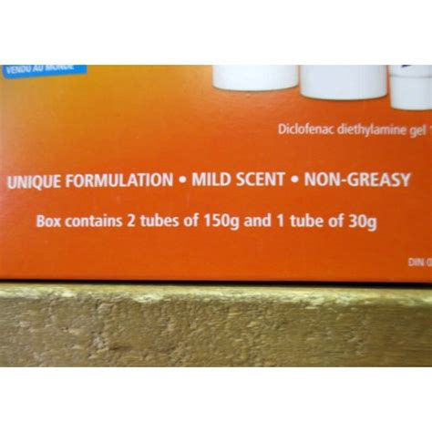 voltaren gel pain reliever tube gram relief