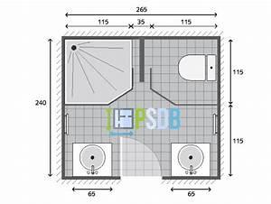 plan plan salle de bain de 64m2 modele et exemple d With plan salle de bain 4m2