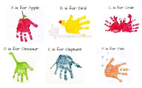 Kids Activity Alphabet Handprint Art  Step By Step Ideas