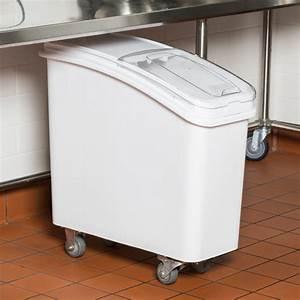 Baker U0026 39 S Mark 21 Gallon White Mobile Ingredient Storage Bin