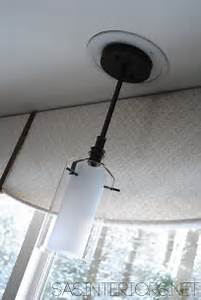 Easily change a recessed light to decorative hanging