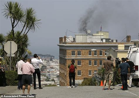 smoke  pouring  russian consulate  san francisco