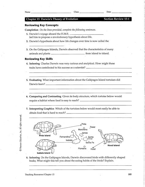 12 Best Images Of Darwin's Natural Selection Worksheet Key  Evolution By Natural Selection