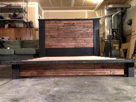 diy wood pallet bed  headboard  pallets