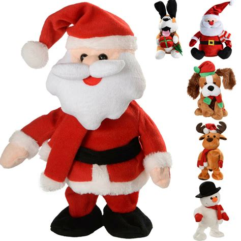 musical walking dancing singing santa snowman reindeer