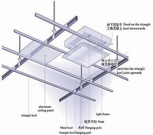 300x300 Bathroom Aluminum False Ceiling Building Material