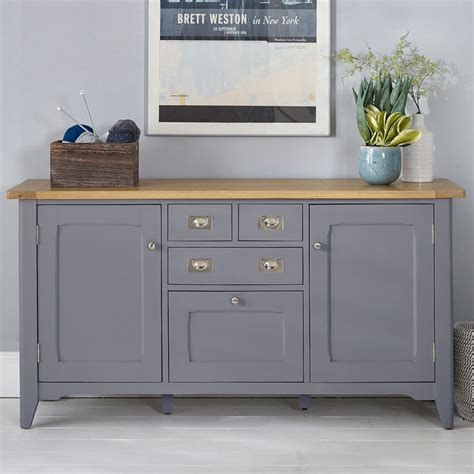 Wooden Sideboard Uk by Bordeaux Painted Taupe Large Wooden Sideboard Costco Uk