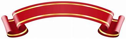 Pita Banner Ribbon Clipart Clip Vector Gold