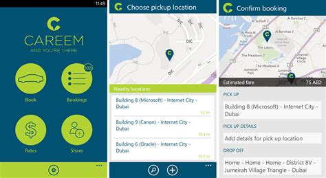 Careem Launches Official Car Booking App For Windows Phone