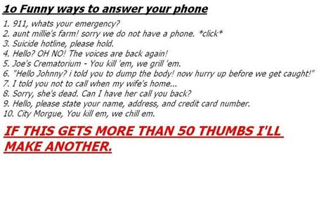 ways to answer your phone