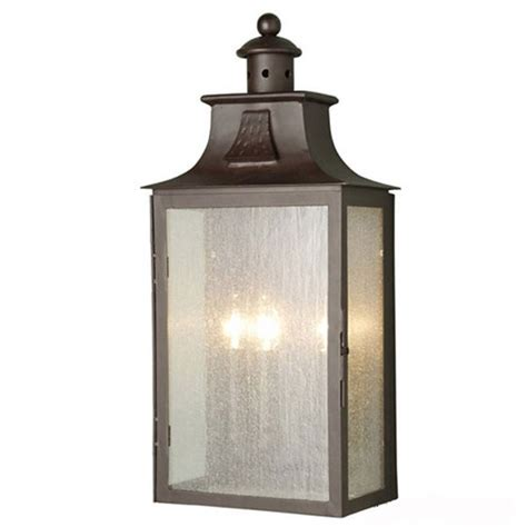 elstead balmoral flush outdoor wall light lantern