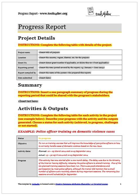 progress report templates sanjonmotel