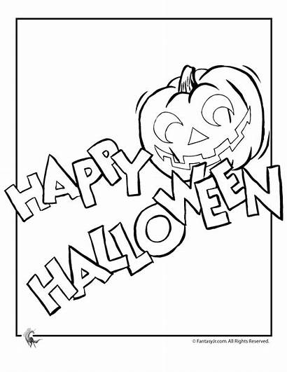 Halloween Coloring Happy Pages Fall Disney Template