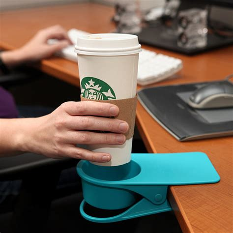 cool things to put on your desk drinklip is a clip on cupholder for your desk