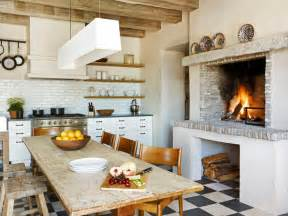 kitchen fireplace design ideas old world kitchens hgtv