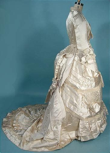 late victorian wedding gown   underthings
