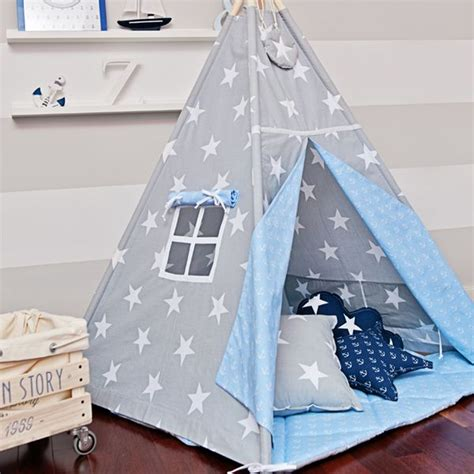 Tipi Zelt Kinderzimmer Dawanda by Tipi Quot Anker Und Sterne Quot Funwithmum Auf Dawanda