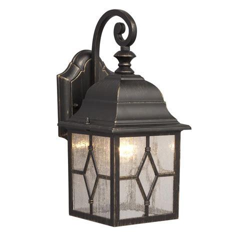 rubbed bronze outdoor light fixtures hton bay 1 light rubbed bronze outdoor dusk to