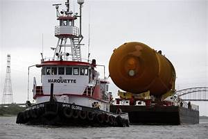 Last space shuttle tank leaves New Orleans — by sea, not ...