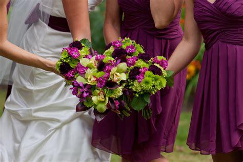 Purple Bridal Bouquet Stadium Flowers