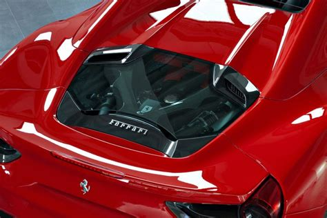 capristo engine bonnet  carbon glass ferrari  spider