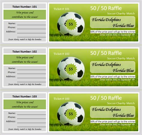 raffle ticket template 30 free ticket templates printable word formats