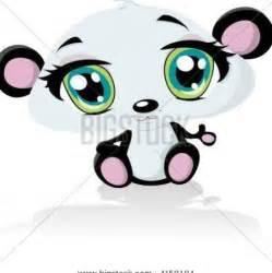 Cute Cartoon Pandas with Big Eyes
