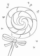 Lollipop Coloring Colouring Drawing Candyland Printable Lolly Printables Candy Ice Lollipops Sheets Template Supercoloring Swirl Coloriage Rainbow Word Young Paper sketch template