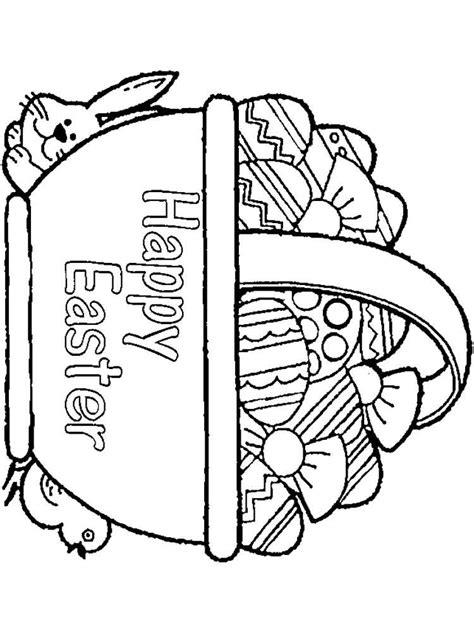 easter basket coloring pages easter basket coloring pages free printable easter basket