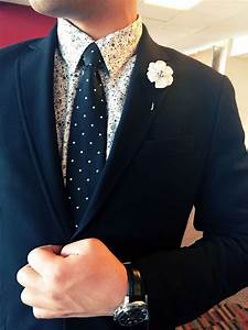 Black suit, black and white flower print shirt, black ...