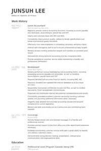 exle of resume for junior accountant junior accountant resume sles visualcv resume sles database