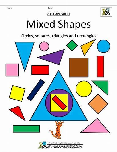 Shapes 2d Mixed Shape Clipart Printable Math