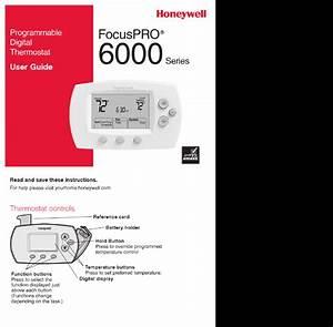 Honeywell Focuspro 6000 Series User Manual