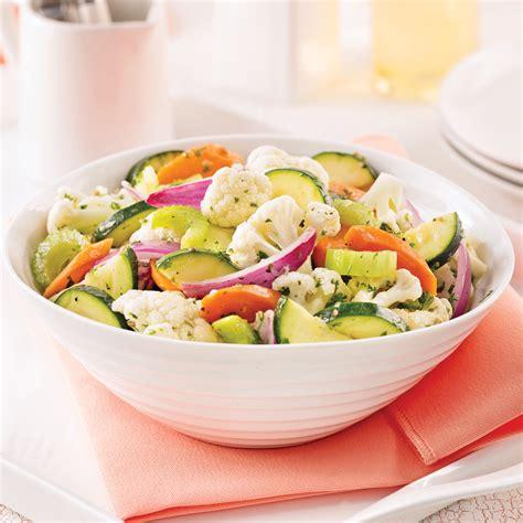 cuisine chou fleur salade de chou fleur carottes et courgettes marinées