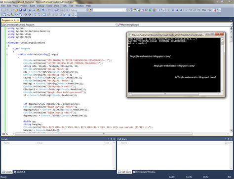 Console Application by Web Tasar莖m莖 Bilgisayar Programc莖l莖茵莖 C Console