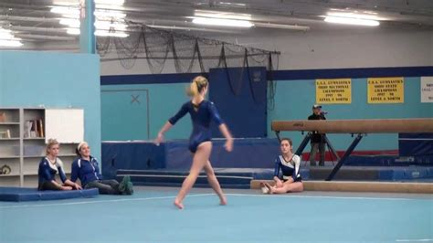 my gymnastics floor routine best score level 7 and above